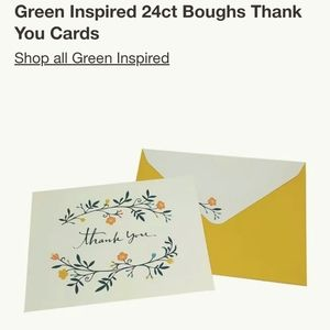 NWT floral + greenery thank you cards 🌾